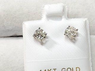 2635 14K Diamond 0 8Ct I1 I2 G H  Earrings