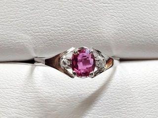 1000 10K Ruby 0 65ct  Diamond 0 04ct  Ring