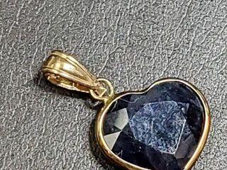1000 14K Sapphire 4ct  Pendant