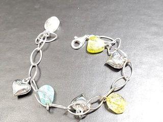 400 Silver Gamstone Bracelet
