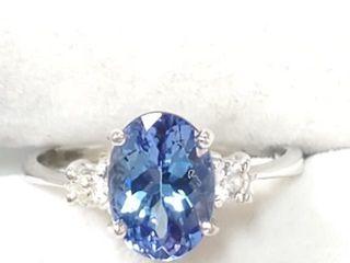 4000 10K Tanzanite 2ct  Diamond 0 06ct  Ring