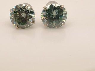 2090 14K Moissanite 6 2ct  Earrings