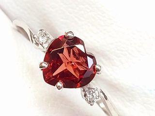 1000 10K Garnet 1 5ct  Diamond 0 03ct  Ring