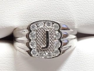 300 Silver CZ 1 5ct  Ring