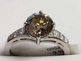 22380 14K Chocolate Diamond 2 12ct  Diamond 0 18