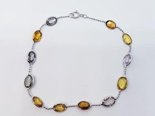 4179 14K Fancy Color Sapphire 11ct  Bracelet