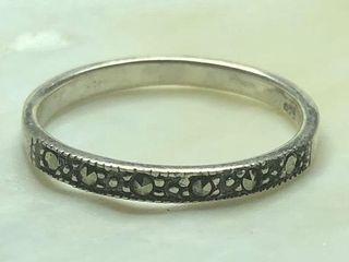 50 Silver Marcasite Ring