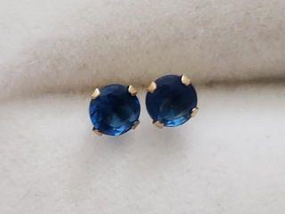 150 10K Sapphire 1 5ct  Earrings