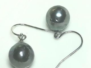400 Silver Genuine Tahitian Pearl 11 12Mm Earring
