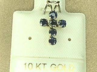 150 10K Sapphire 0 6ct  Pendant