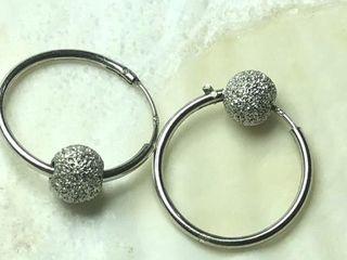 80 Silver Hoop Earrings