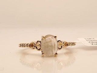 2295 10K Natural Zultanite 1ct  Diamond 0 12ct