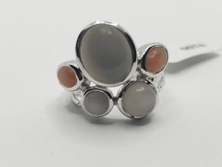 200 Silver Moonstone 8ct  Ring