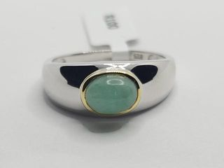 180 Silver Emerald 1 3ct  Ring