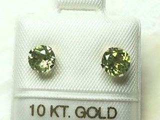 160 10K Peridot 1 2ct  Earrings