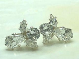 80 Silver CZ Earrings