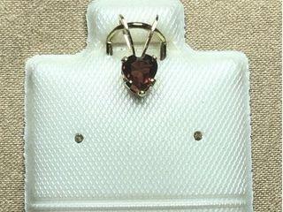 60 14K Garnet Mini 0 28ct  Pendant