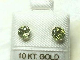 120 10K Peridot 1 2ct  Earrings