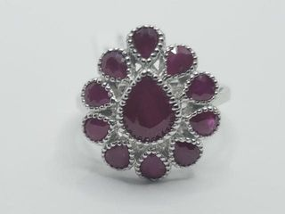 250 Silver Ruby 3 1ct  Ring