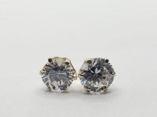 120 10K CZ Earrings