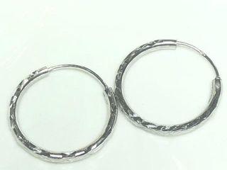 50 Silver Hoop Earrings