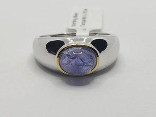 150 Silver Tanzanite 1 7ct  Ring