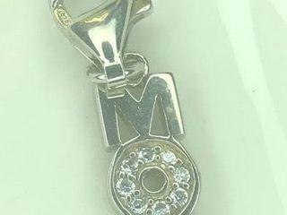 60 Silver CZ Pendant