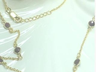 200 Silver Ruby 18  Necklace