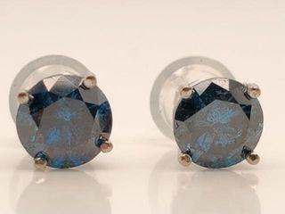 3900 14K Blue Diamond 1 18Ct I1  Earrings