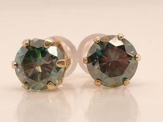 1565 14K Moissanite 1 6ct  Earrings