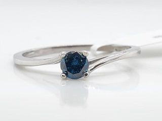 1400 10K Blue Diamond 0 23Ct I1  Ring