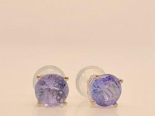 1425 14K Tanzanite 1 1ct  Earrings