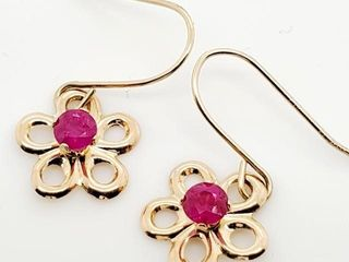 300 14K Ruby 0 21ct  Earrings