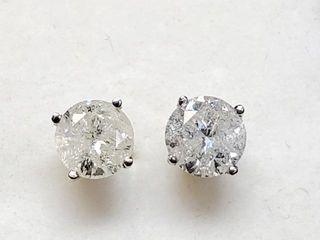 3900 14K Diamond 1 18Ct I3 G H  Earrings