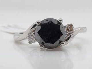 2610 10K Black Diamond 1 7ct  Diamond 0 08ct  Ri