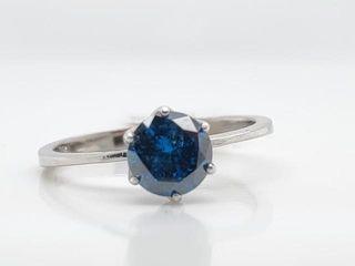 4200 14K Blue Diamond 0 77Ct I1  Ring