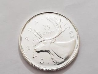 100 Canada  25 Cents Coin
