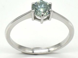 600 Silver Blue Moissanite  Round 6 Mm 2 2ct  Ri
