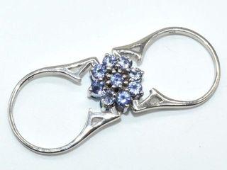 800 Silver Certified Tanzanite Blue Topaz 7 4ct