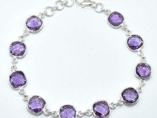 300 Silver Amethyst 7 75ct  Bracelet