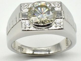 1960 Silver Certified Moissanite   Round 10 Mm 7