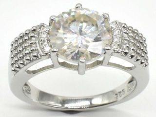 2150 Silver Certified Moissanite   Round 11 Mm 6