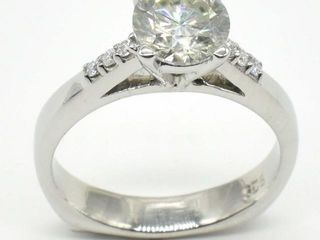 1000 Silver Certified Moissanite   Round 7 Mm 4