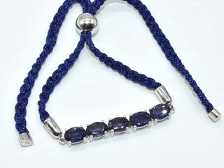 400 Silver Iolite 5 2ct  Bracelet