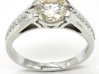1500 Silver Certified Moissanite   Round 8   1 5