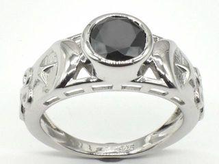 1200 Silver Certified Black Moissanite   Round 7