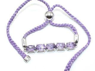 400 Silver Amethyst 5 3ct  Bracelet