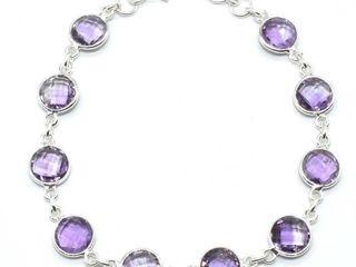 400 Silver Amethyst 7 1ct  Bracelet