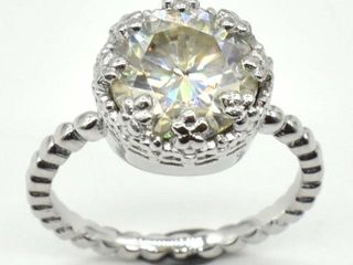 1200 Silver Certified Moissanite Round 10 Mm 3 8