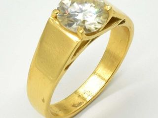 1500 RoseGold Plated Sil Certified Moissanite Rou